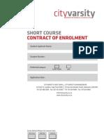 Short Course Enrolment Form