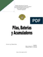 Baterias, Pilas y Acumuladores