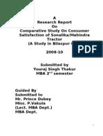 Sonalika & Mahendra Tractor Research Report (1)