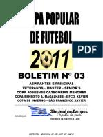 Copas Populares - Boletim 3