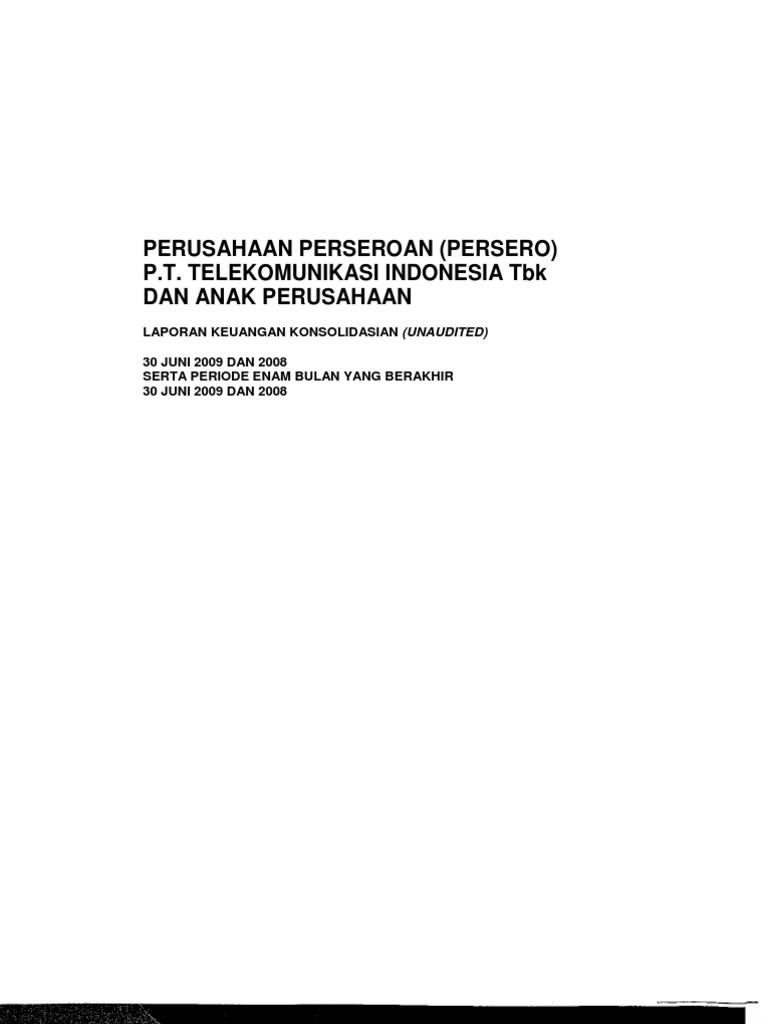 Laporan Keuangan Pt Telkom