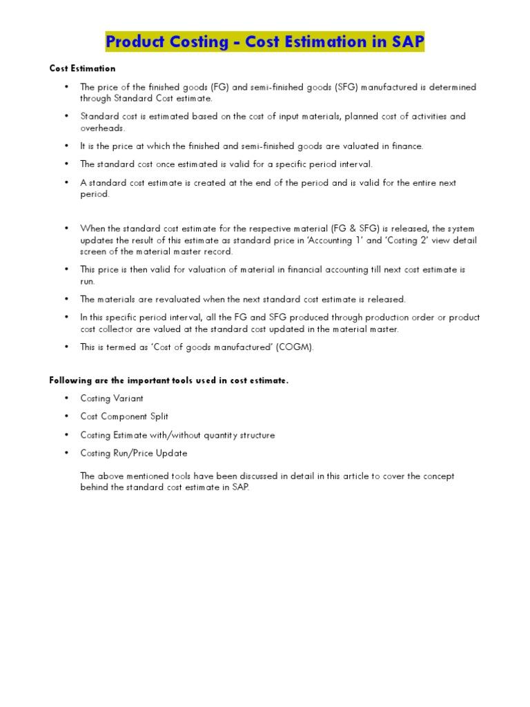 estimate document