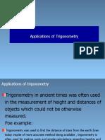 Applications of Trigonometry
