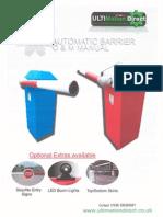 D3200 Barrier Manual