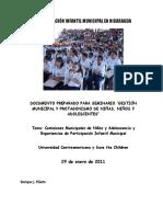 Participación Infantil Municipal en Nicaragua