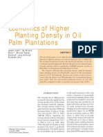 Economics of Higher Planting Density in Oil Palm Plantations