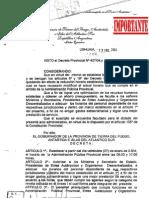 Decreto Provincial Nº 416-2004 Cantidad Horaria del Personal según categoría