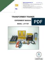 3. Lft-tet, Transformer Trainer Exp Manual, 9082b, Imtac