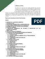 Contratos y Convenios Mineros en Perú