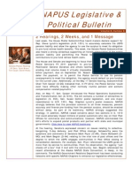 eNAPUS Legislative &  Political Bulletin May 20 2011