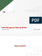 Talent Management Maturity Models HRxAnalysts John Sumser May 2011