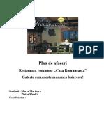 Plan de Afaceri - Restaurant