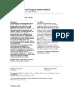 Intoxicación suicida por paracetamol