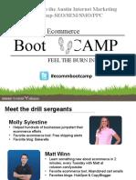 SEO Austin Meetup-Ecommerce Boot Camp