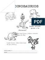 cuadernillo dinosaurios
