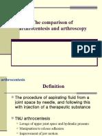 Comparison of Arthrocentesis and Arthrocopy