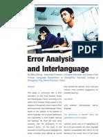 Error Analysis and Inter Language