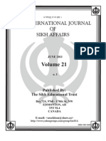 Dr. Awatar Singh Sekhon INTERNATIONAL JOURNAL OF SIKH AFFAIRS