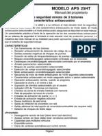 Prestige APS25HT Manual de Usuario
