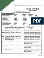 Prestige APS45HJ Manual de Instalación
