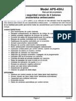 Prestige APS45HJ Manual de Usuario