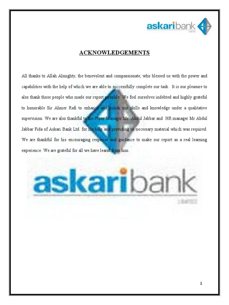 organizational structure of askari bank