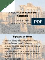 La Hipoteca en Roma y en Colombia