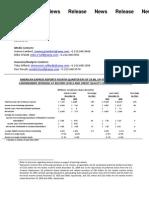 Earnings PR 2011.01.24
