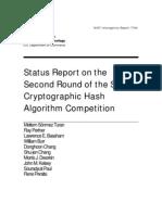 Round2 Report NISTIR 7764