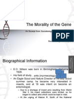 The Morality of the Gene