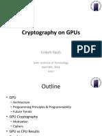 Cryptography on GPU
