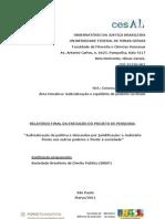 Relatório Judicialização da política e demandas por juridificação
