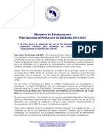 Comunicado de Prensa | Plan Sal