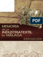 "Catálogo exposición ""Memoria de la industria textil en Málaga"""
