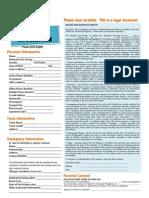Volunteer Info and Waiver (v.2011)