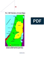 Pre -1967 Borders of Israel Maps and Graphic Size Comparison