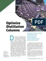 Optimize Distillation Columns