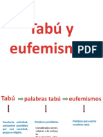 Tabú, eufemismos