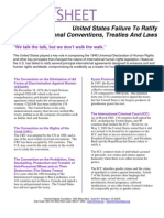 United States Failure To Ratify Key International Conventions, Treaties And Laws