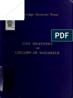 Mason, Gregory of Nazianzus. The five theological orations. 1899.
