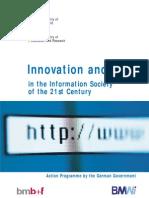 Germany Development ICT Action Plan Innov-And-Jobs InfoSoc21Cent 1999 En