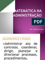 Matemática na Administração N-2