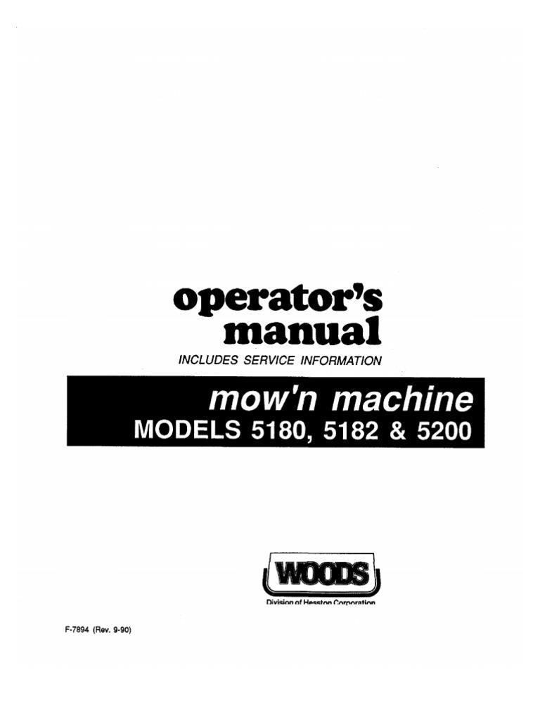 Woods Mowing Machine 6100 Wiring Digram | Wiring Library