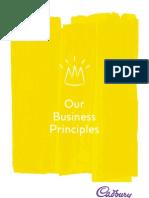 Cadbury Schweppes Biz Principles