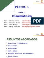 Física 1 - Aula 1 - Cinematica