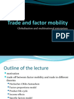Trade and Factor Mobility(1)