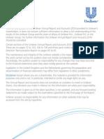 Unilever Financial Report