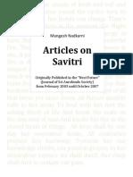 Nadkarni 50 Serial Articles on Savitri