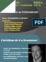 Taller de Diseño 0 - 1°Trabajo ARQ.CREISTIAN de PORTZAMPARC - Grupo Descubriendo el Espacio