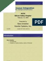 Accu Continuous Integration Best Practises
